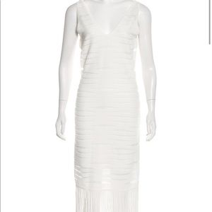 New with tags Parker white fringe dress